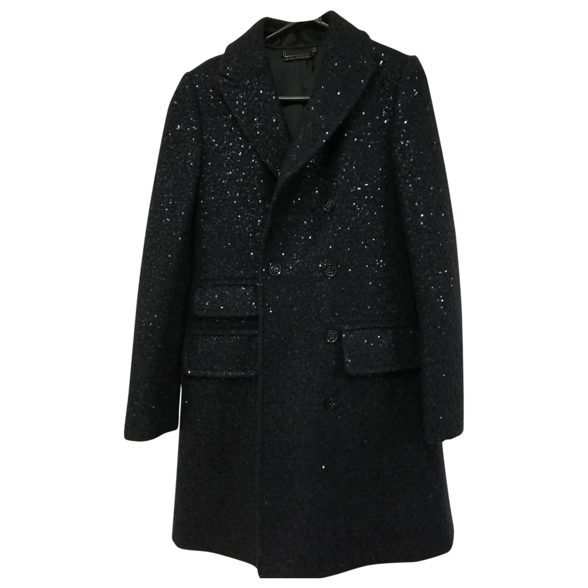 Diane Von Furstenberg - Manteau   pour femme en laine - noir