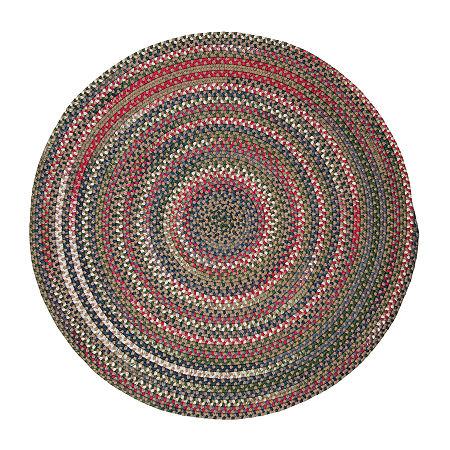 Colonial Mills American Pride Braided Round Reversible Indoor Rugs, One Size , Beige