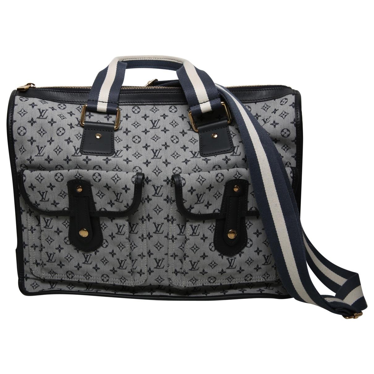 Louis Vuitton Mary Kate Handtasche in  Blau Baumwolle