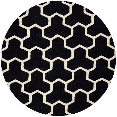 Safavieh Mckayla Geometric Hand Tufted Wool Rug, One Size , Black