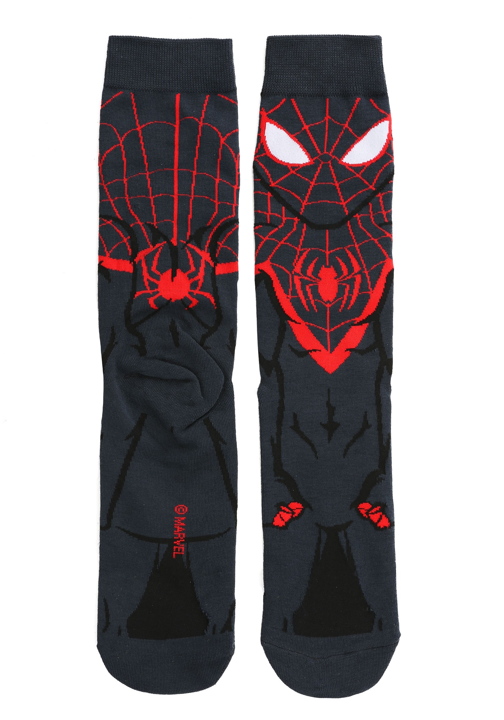 Spider-Man Miles Morales 360 Character Crew Socks