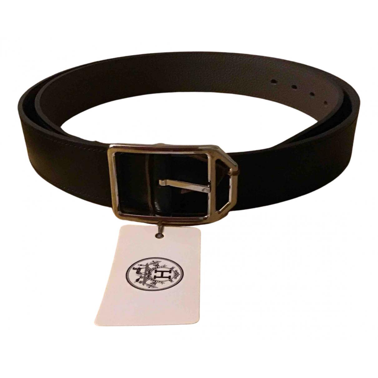 Cinturon Paddock de Cuero Hermes