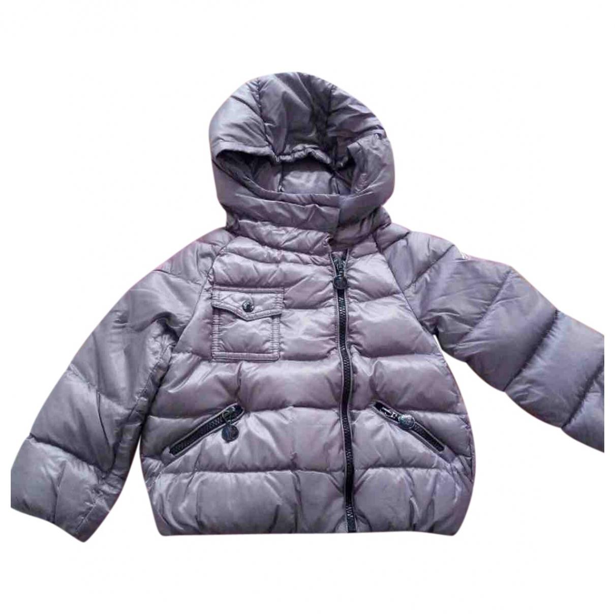 Moncler Hood Jacke, Maentel in  Lila Polyester