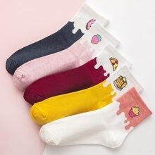 5pairs Food Pattern Socks