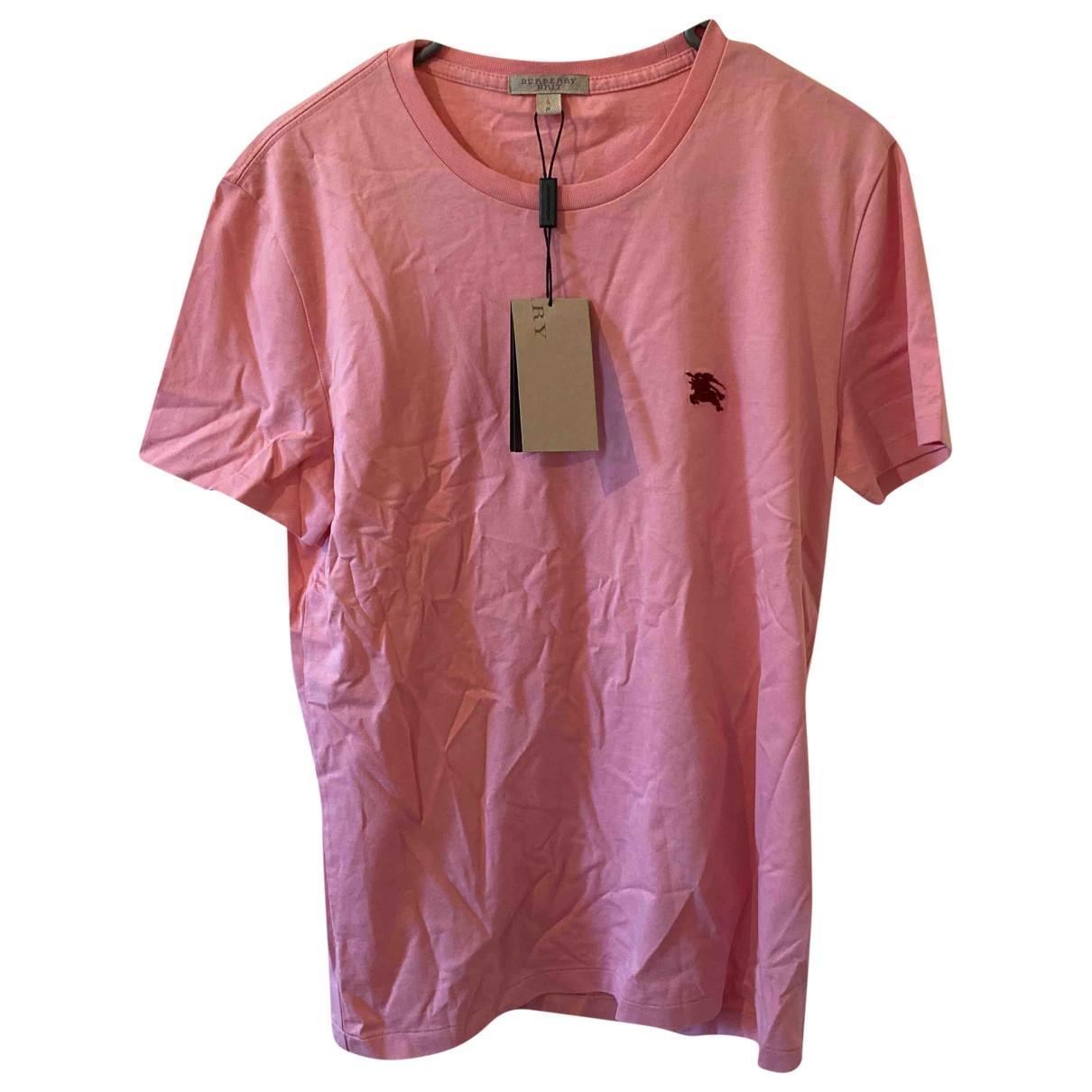 Burberry - Tee shirts   pour homme en coton - rose