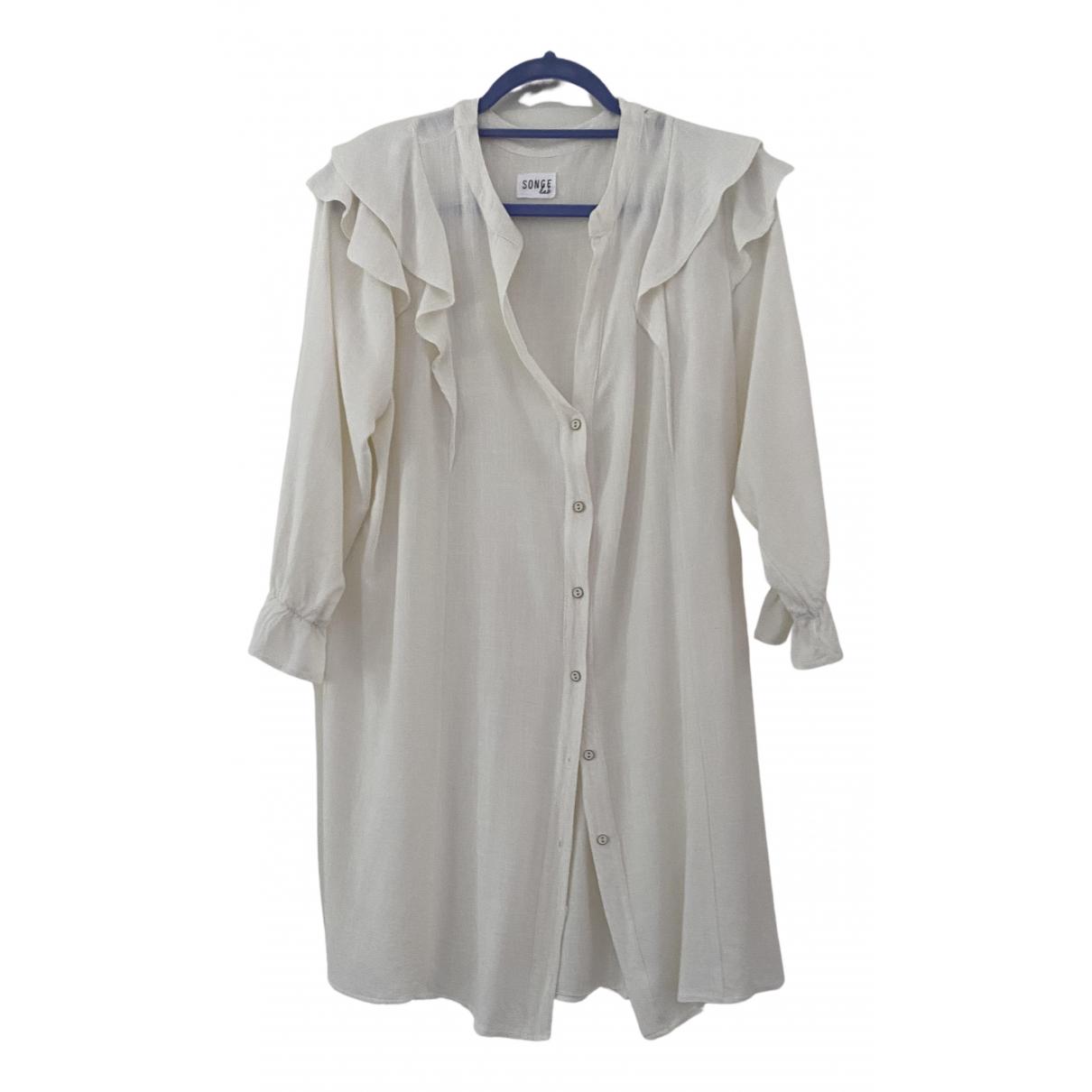 Non Signé / Unsigned \N Ecru Linen dress for Women 36 FR
