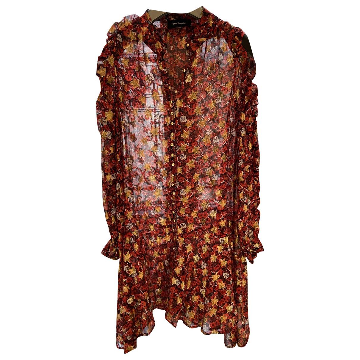 The Kooples Fall Winter 2019 Red Silk dress for Women 36 FR