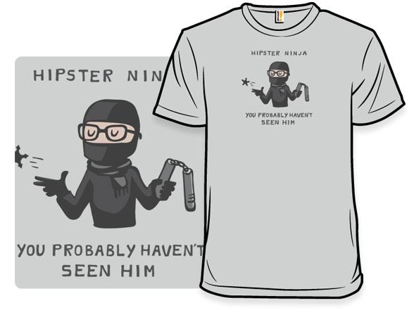 Hipster Ninja T Shirt