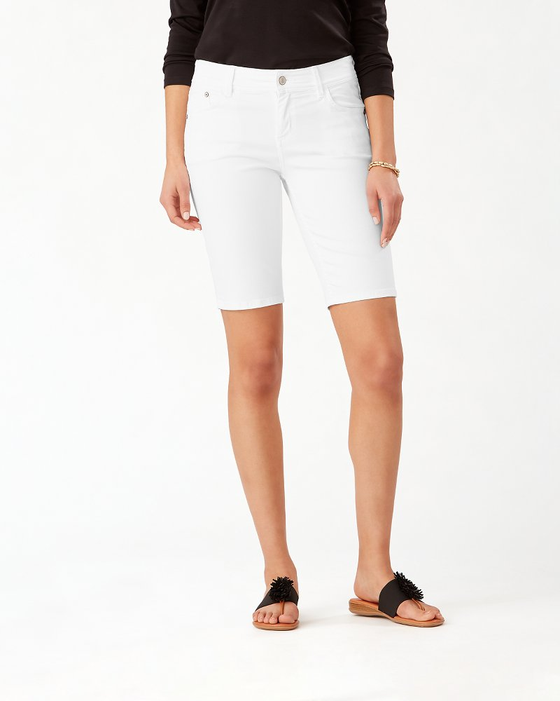 Afton Denim 11-inch Bermuda Shorts