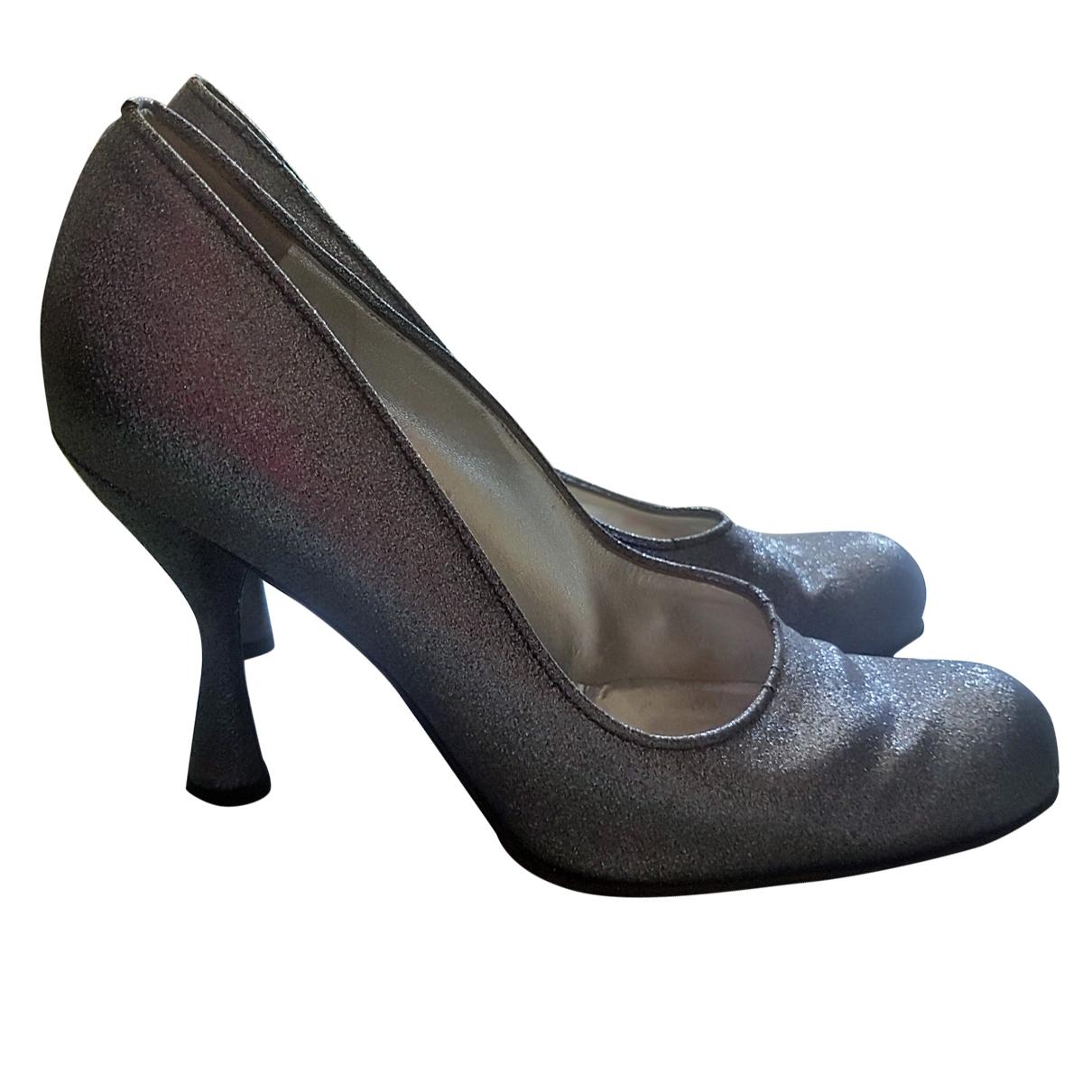 Dolce & Gabbana - Escarpins   pour femme en a paillettes - argente