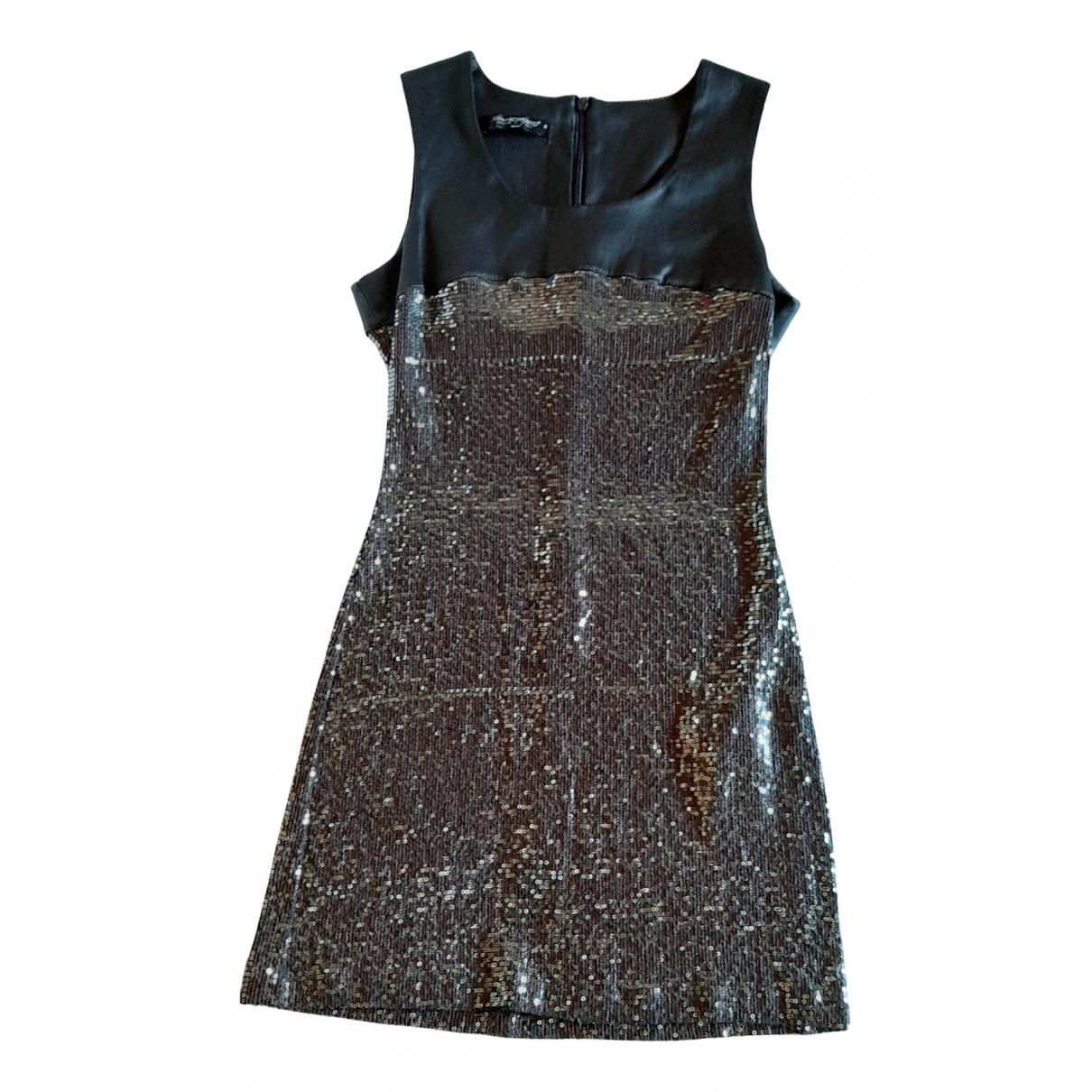 Non Signe / Unsigned \N Kleid in  Grau Mit Pailletten