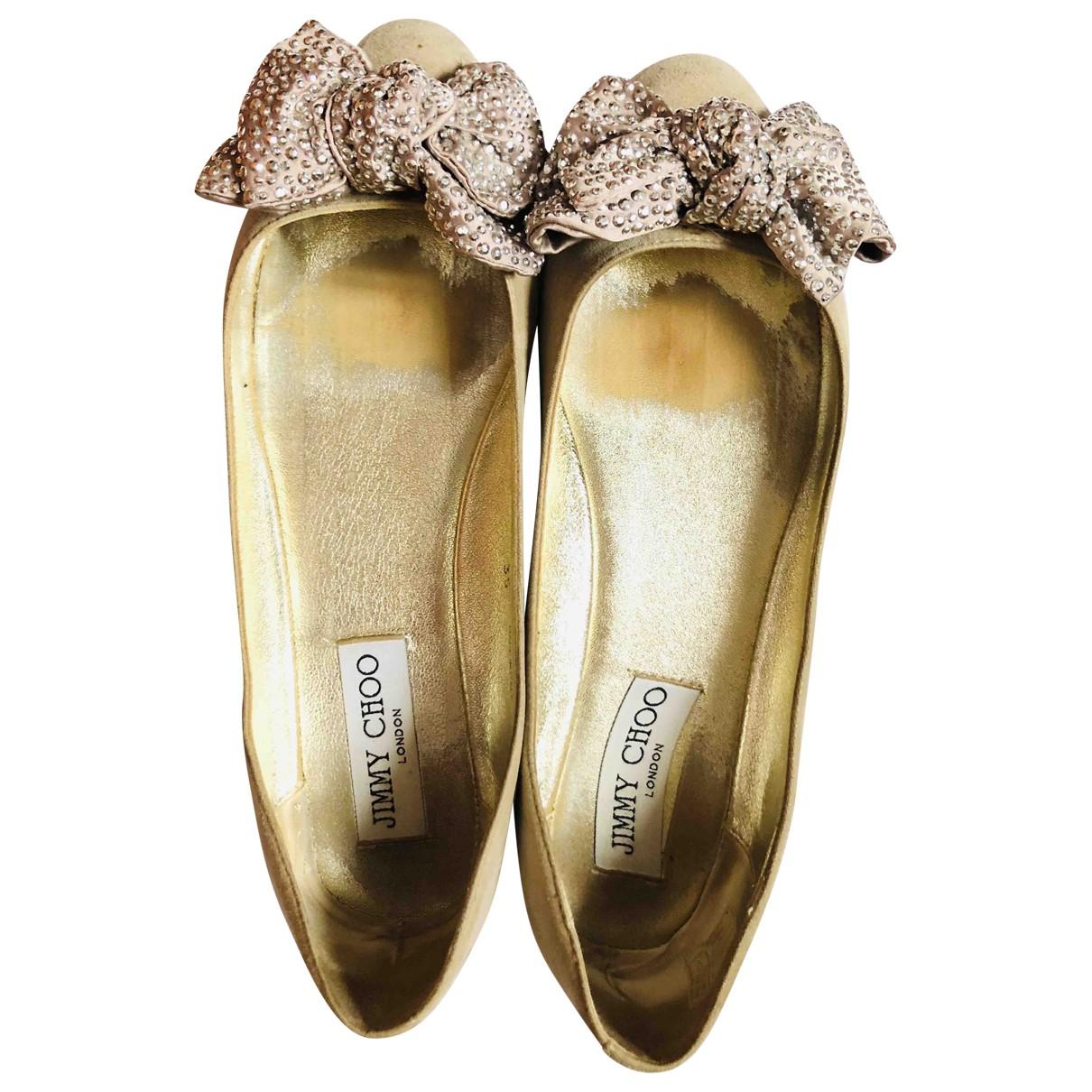 Jimmy Choo \N Ballerinas in  Beige Veloursleder