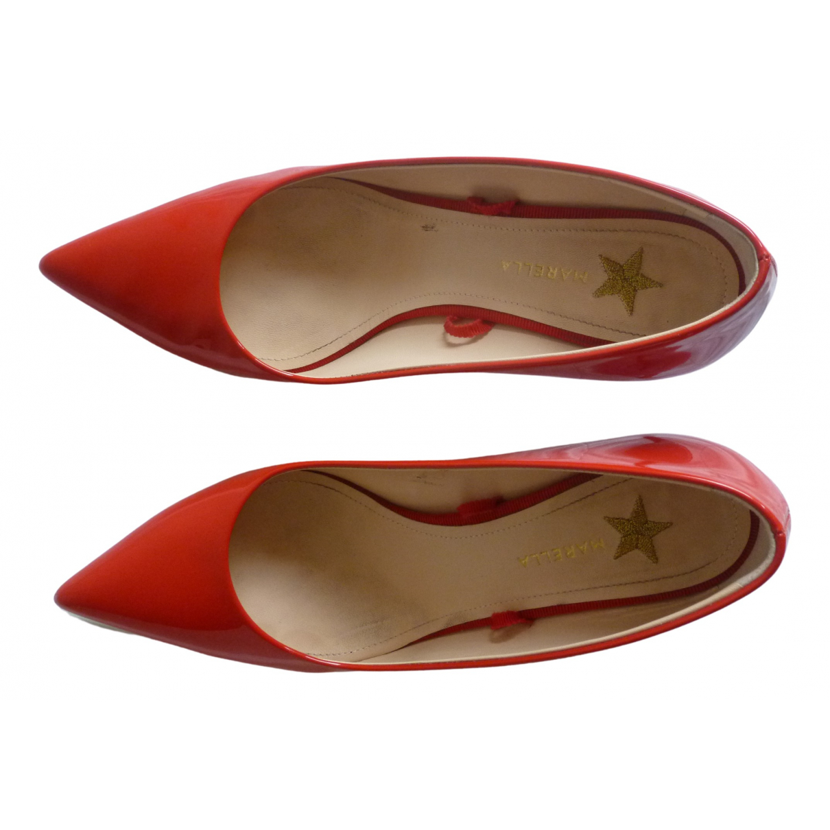 Marella \N Red Patent leather Heels for Women 37 EU