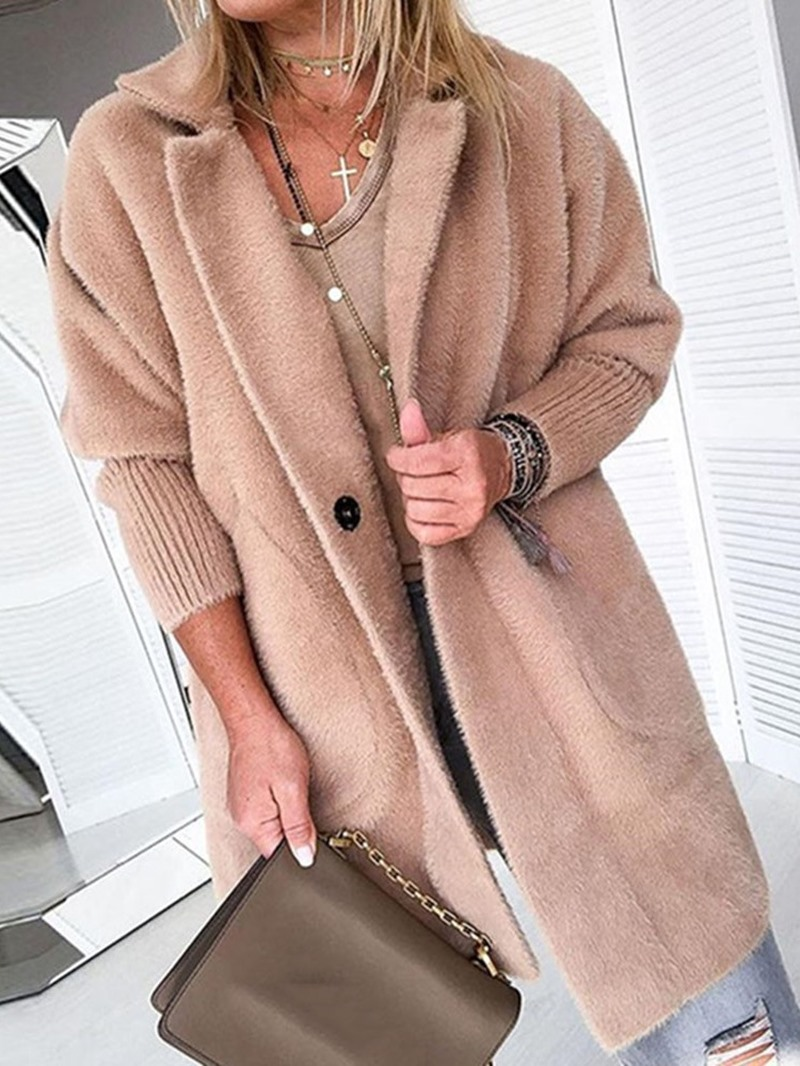 Ericdress Loose Lapel Winter Overcoat