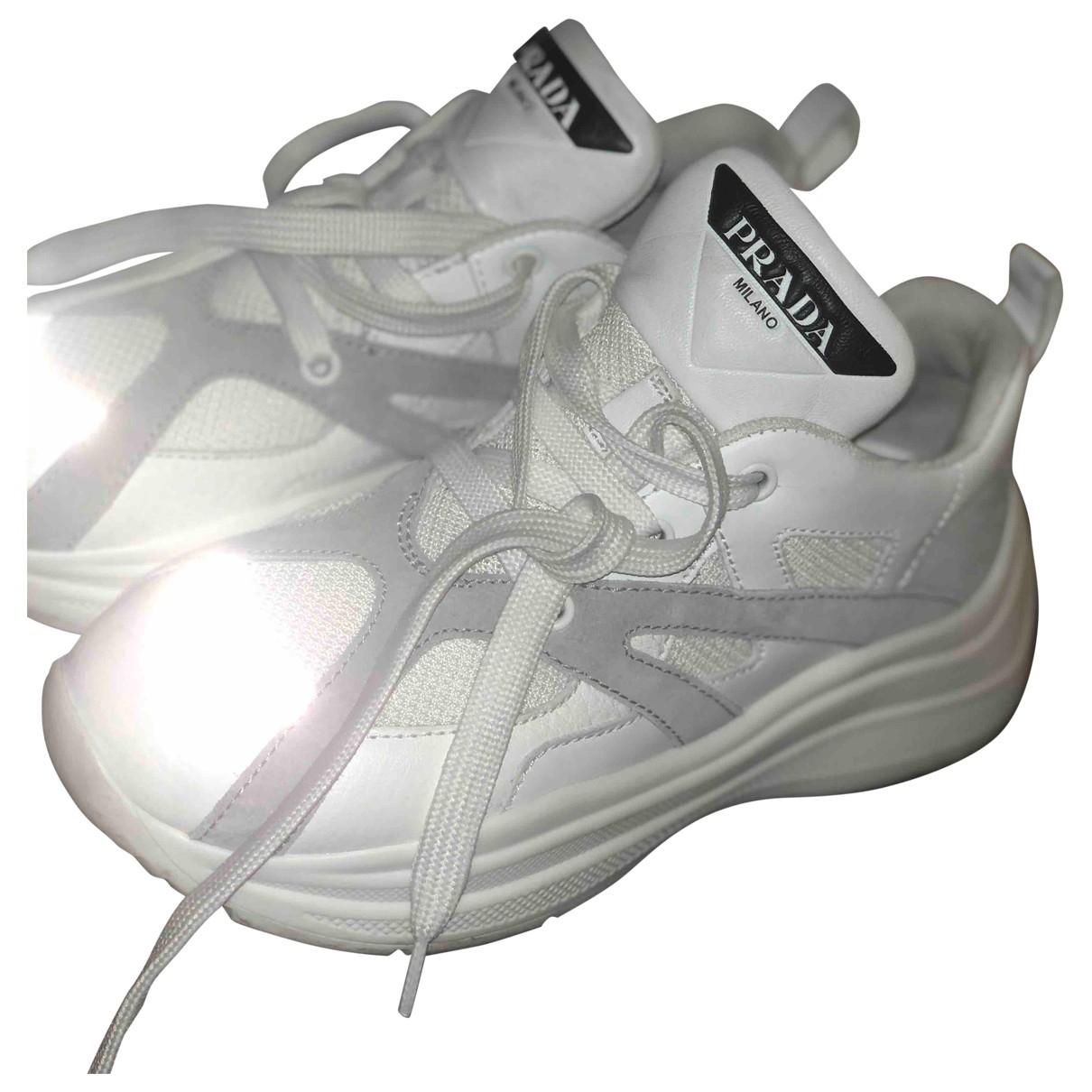 Prada - Baskets Cloudbust pour femme en cuir - blanc