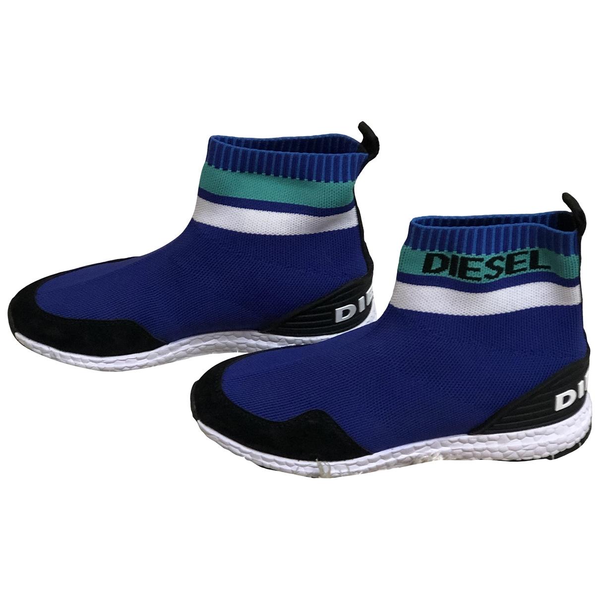 Diesel \N Blue Cloth Trainers for Women 36 EU