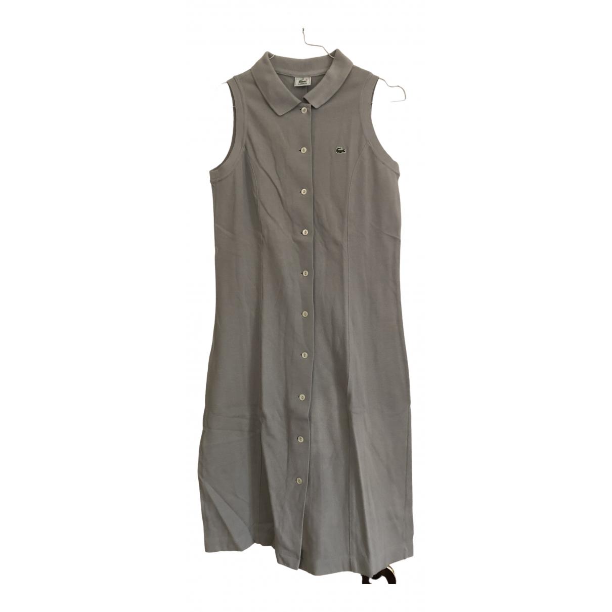 Lacoste \N Kleid in  Grau Baumwolle