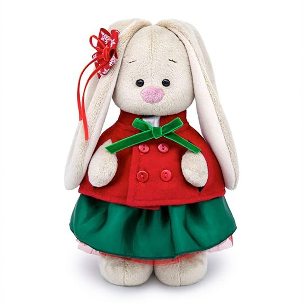 Zaika Bunny Mi in a Red Jacket and Green Skirt Stuffed Plush Toy (Kids)