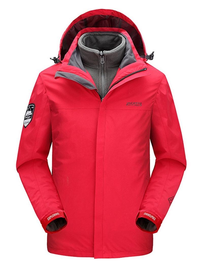 Ericdress Standard Pocket Hooded Zipper Casual Men's Down Jacket