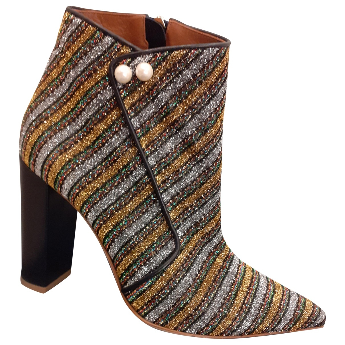 Malone Souliers \N Multicolour Glitter Ankle boots for Women 38 EU