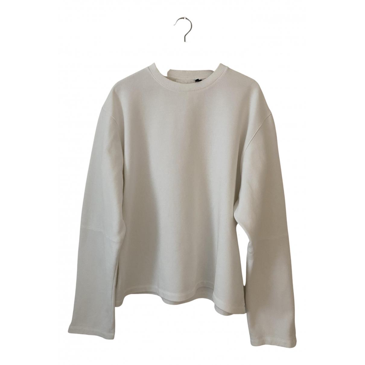 Helmut Lang \N Pullover.Westen.Sweatshirts  in  Weiss Baumwolle