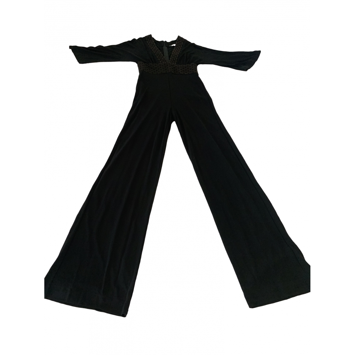 Non Signé / Unsigned Hippie Chic Black jumpsuit for Women 42 IT