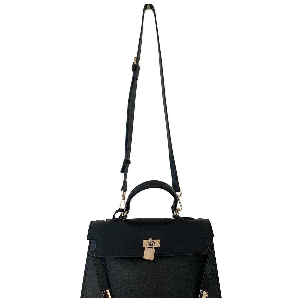 Italia Independent \N Handtasche in  Schwarz Leder
