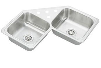 CCR32324 Gourmet Celebrity Stainless Steel 31-7/8 Double Basin Kitchen Sink: Stainless