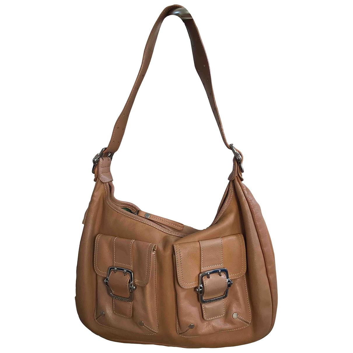 Longchamp \N Handtasche in  Kamel Leder