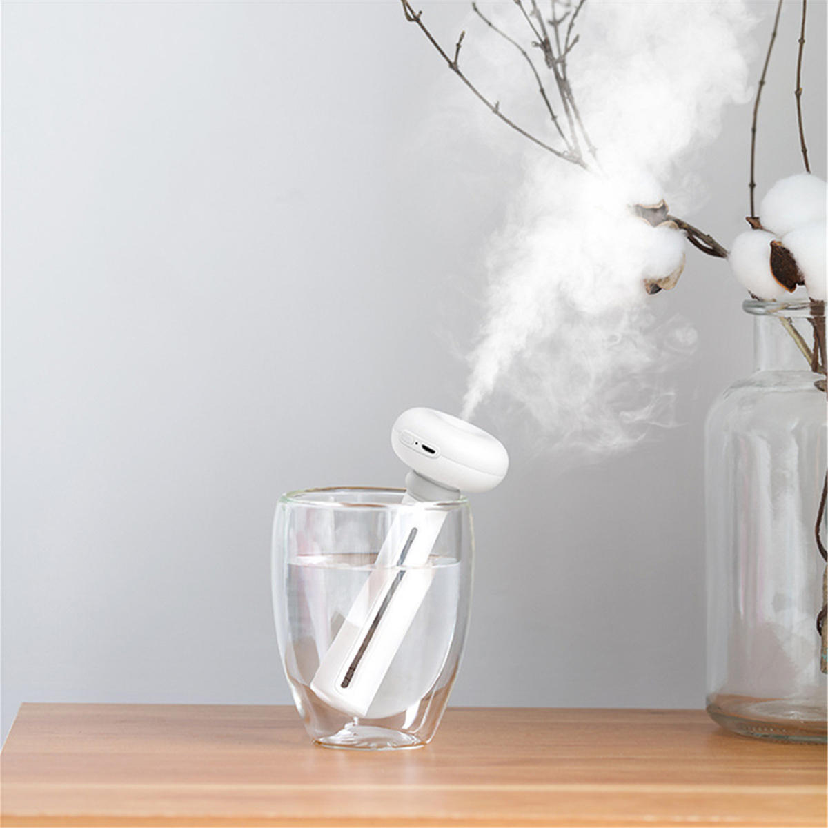 Portable USB Aroma Diffuser Dismountable Air Humidifier For Home Office Car