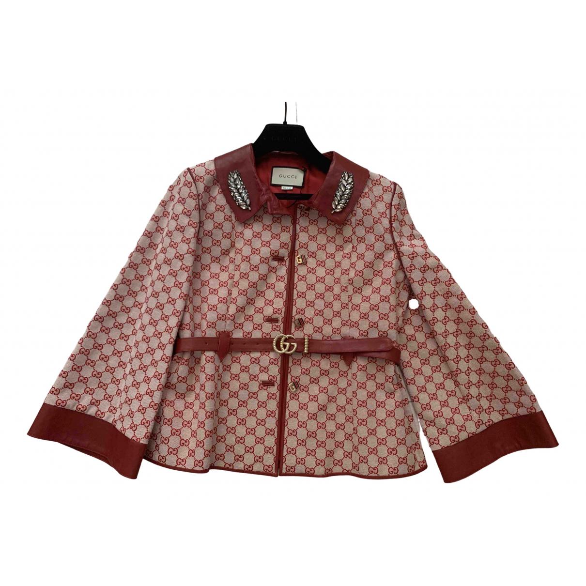 Gucci - Veste   pour femme en coton - rouge