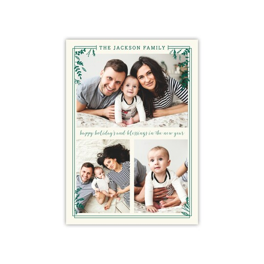 20 Pack of Gartner Studios® Personalized Holiday Sprigs Holiday Photo Card in Pine | 5