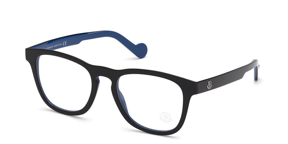 Moncler ML5101 005 Men's Glasses Black Size 54 - Free Lenses - HSA/FSA Insurance - Blue Light Block Available