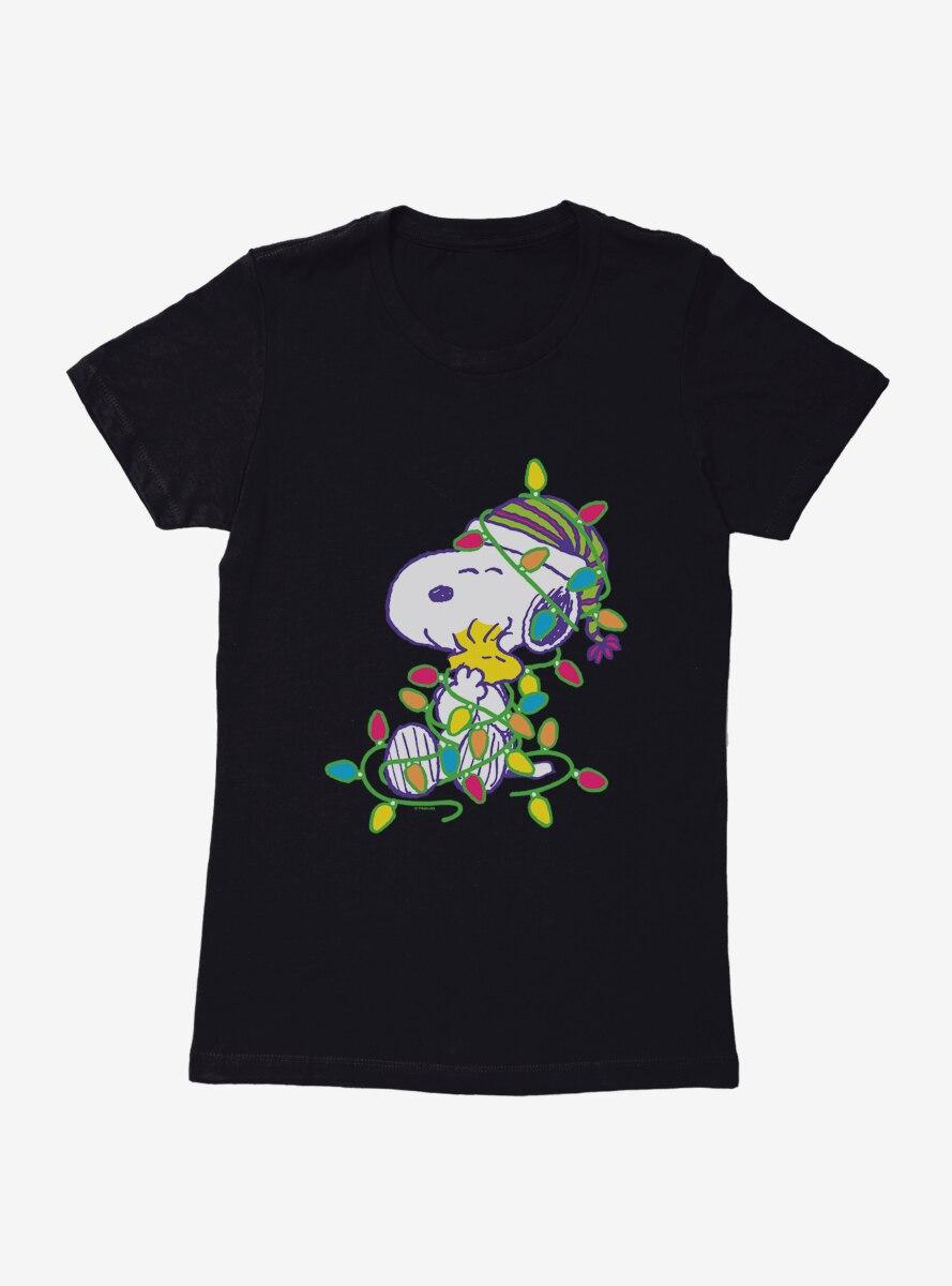 Peanuts Retro Pop Snoopy And Woodstock Womens T-Shirt