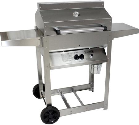 SDRIV4LDDP 53 Liquid Propane Grill with 25000 BTU  400 sq. inch Cooking Surface  Two Caster Wheels and Cast Aluminum Drip Pan in Stainless