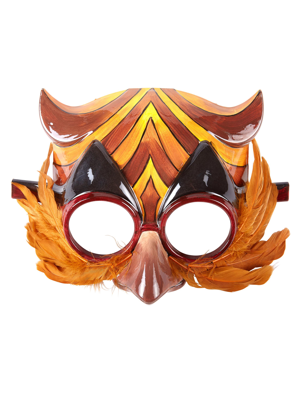 Kostuemzubehor Maske Eule gold