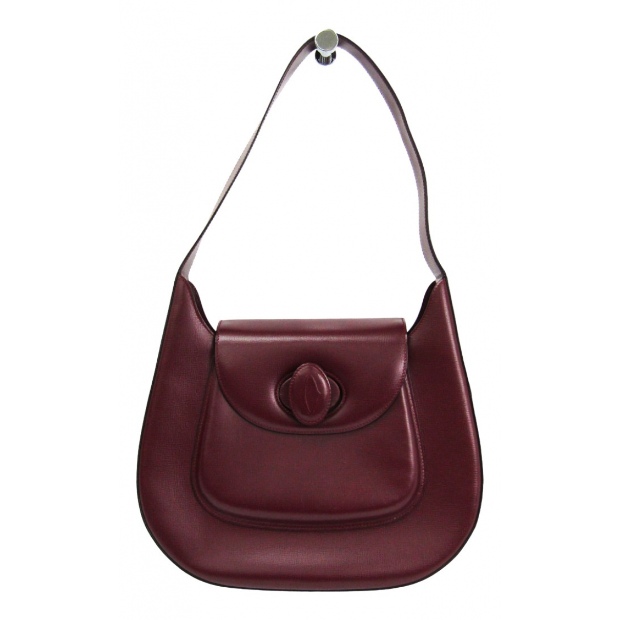 Cartier \N Handtasche in  Bordeauxrot Leder