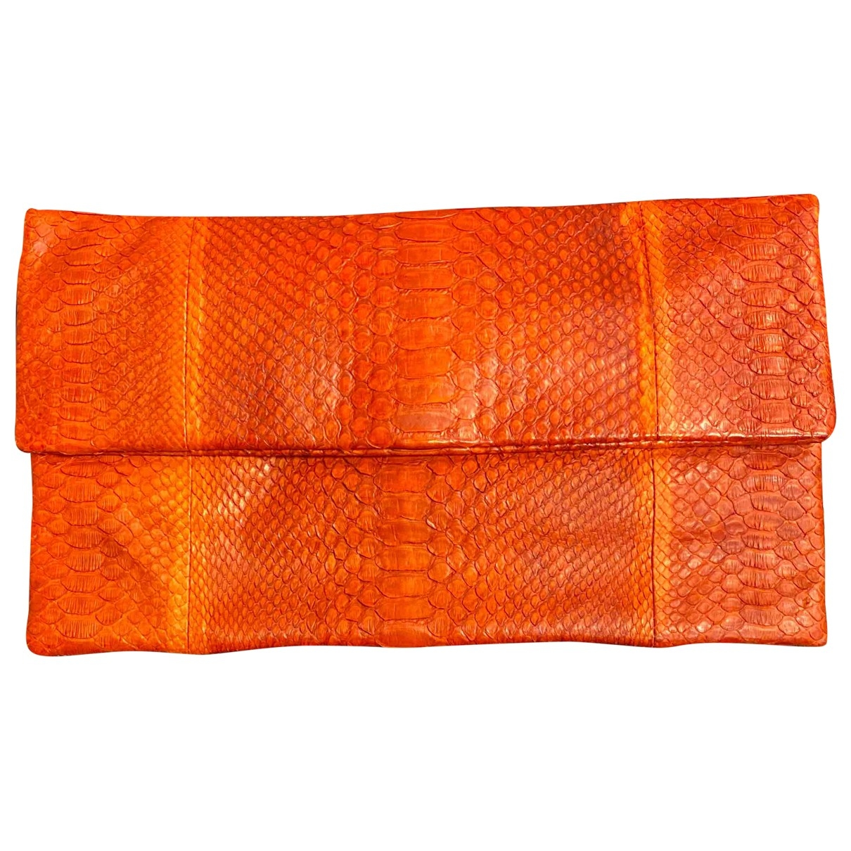 Non Signe / Unsigned \N Clutch in  Orange Python