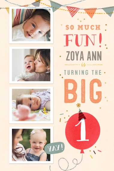 Baby + Kids 12x18 Adhesive Poster, Home Décor -So Much Fun Turning One