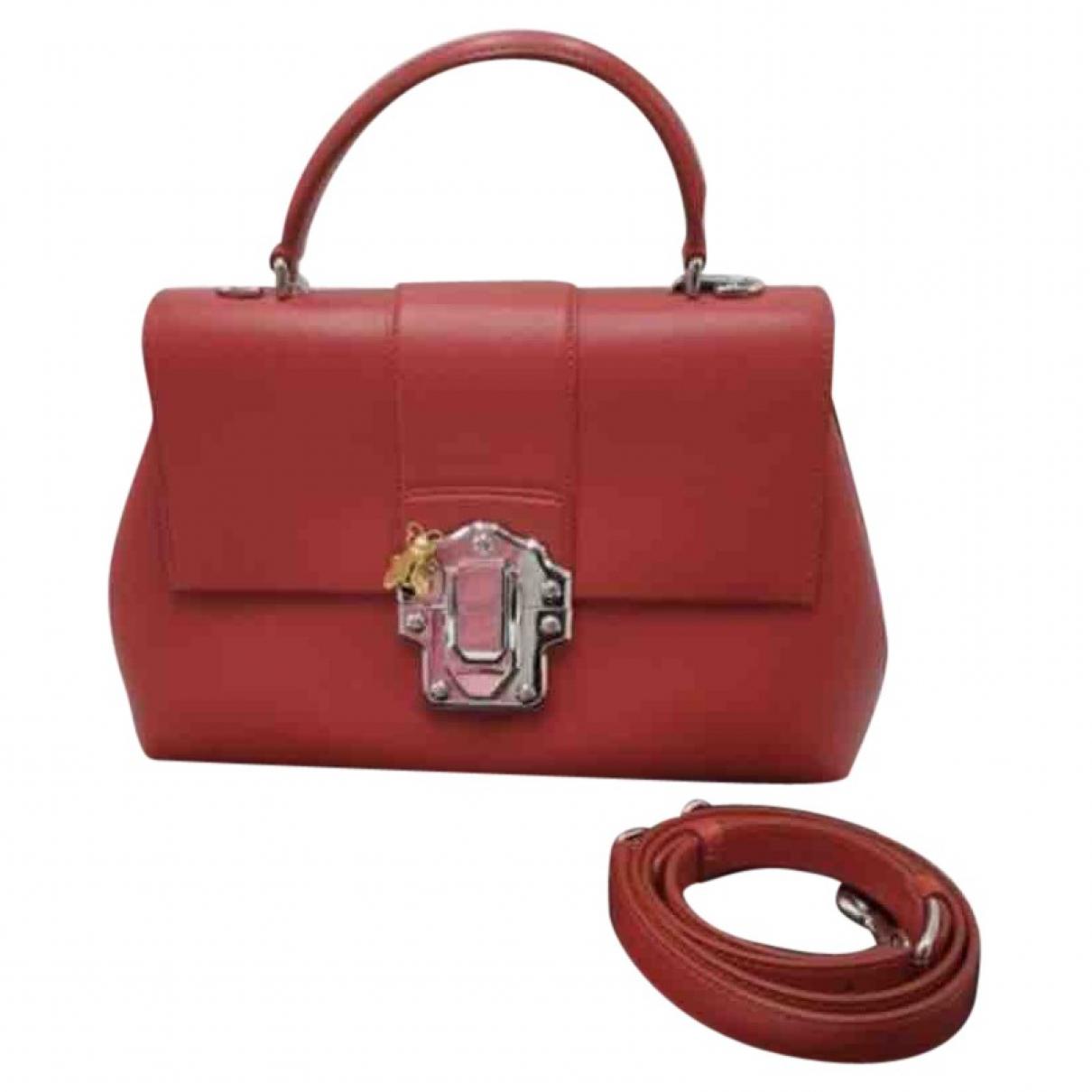 Dolce & Gabbana - Sac a main Lucia pour femme en cuir - rouge