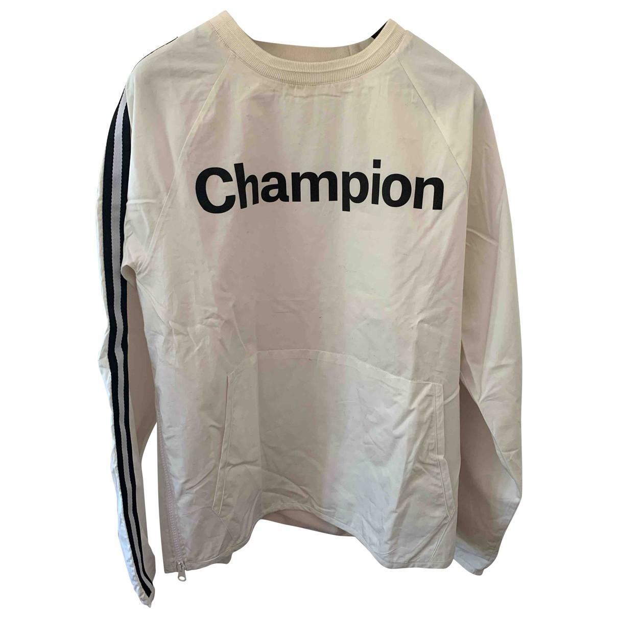 Champion - Pulls.Gilets.Sweats   pour homme en coton - blanc