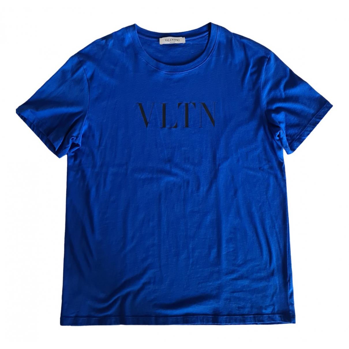 Valentino Garavani - Tee shirts   pour homme en coton - bleu