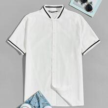 Camisa ringer de rayas con boton