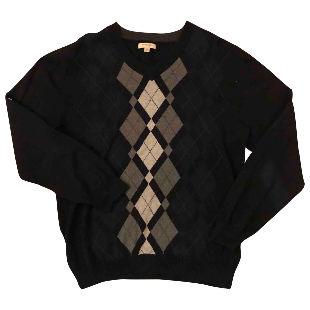 Burberry \N Pullover.Westen.Sweatshirts  in  Schwarz Baumwolle