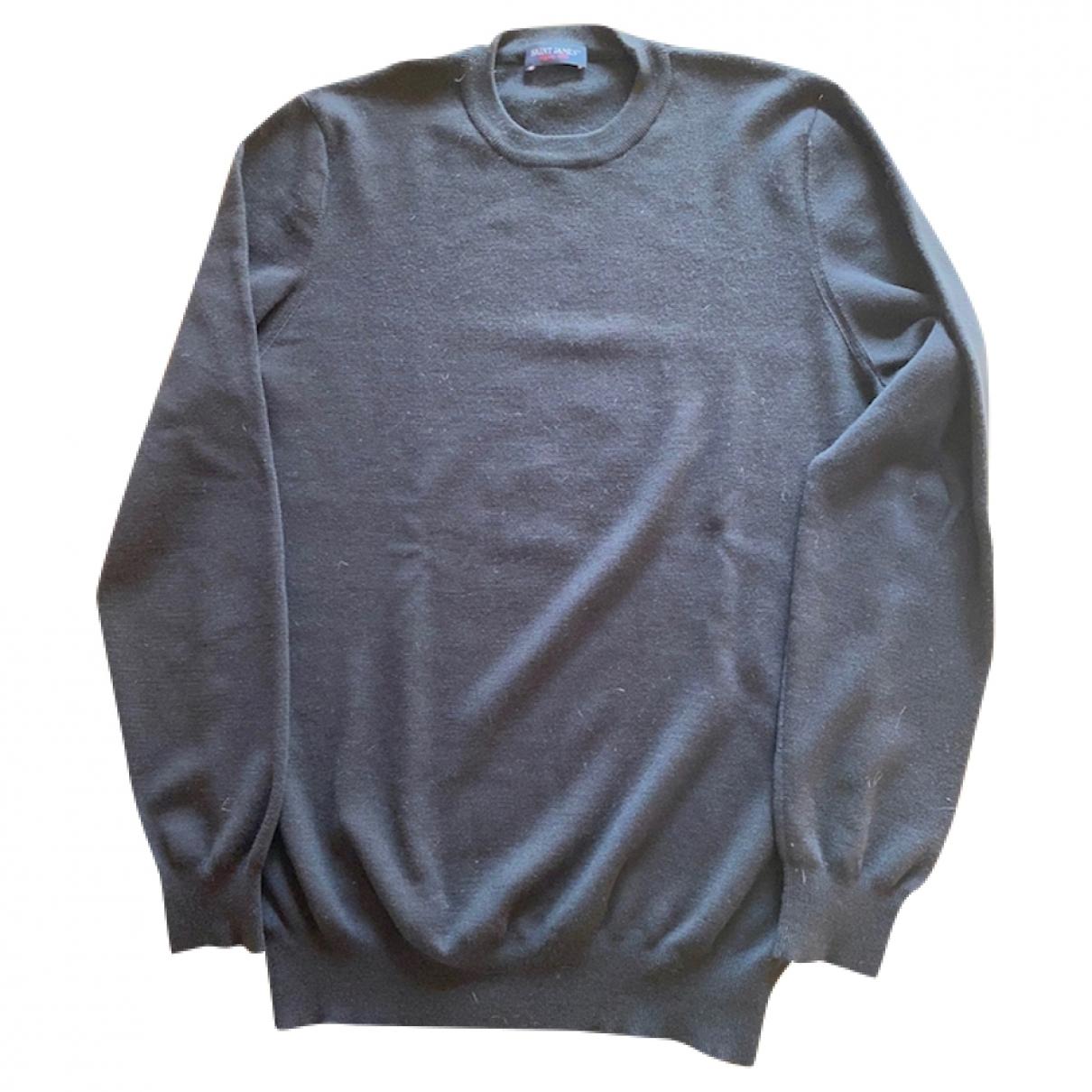 Saint James \N Pullover.Westen.Sweatshirts  in  Schwarz Wolle