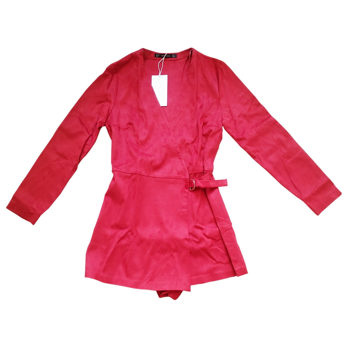 Zara - Combinaison   pour femme en suede - rouge