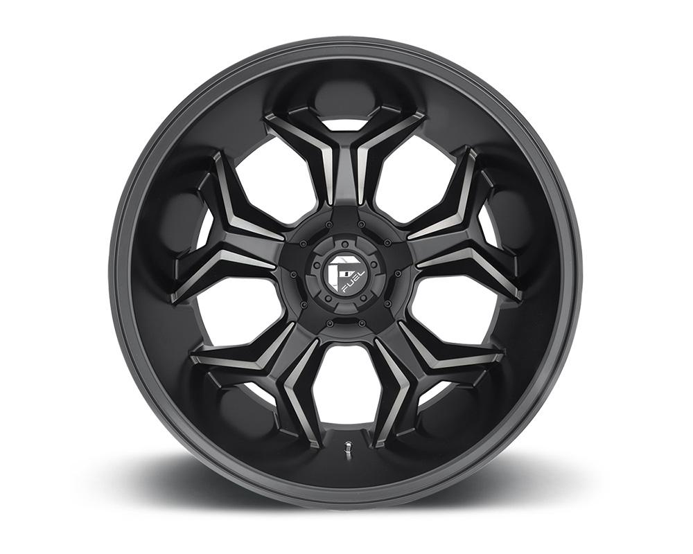 Fuel D605 Avenger Matte Black  & Machined w/ DDT 1-Piece Cast Wheel 20x9 6x135|6x139.7 20mm