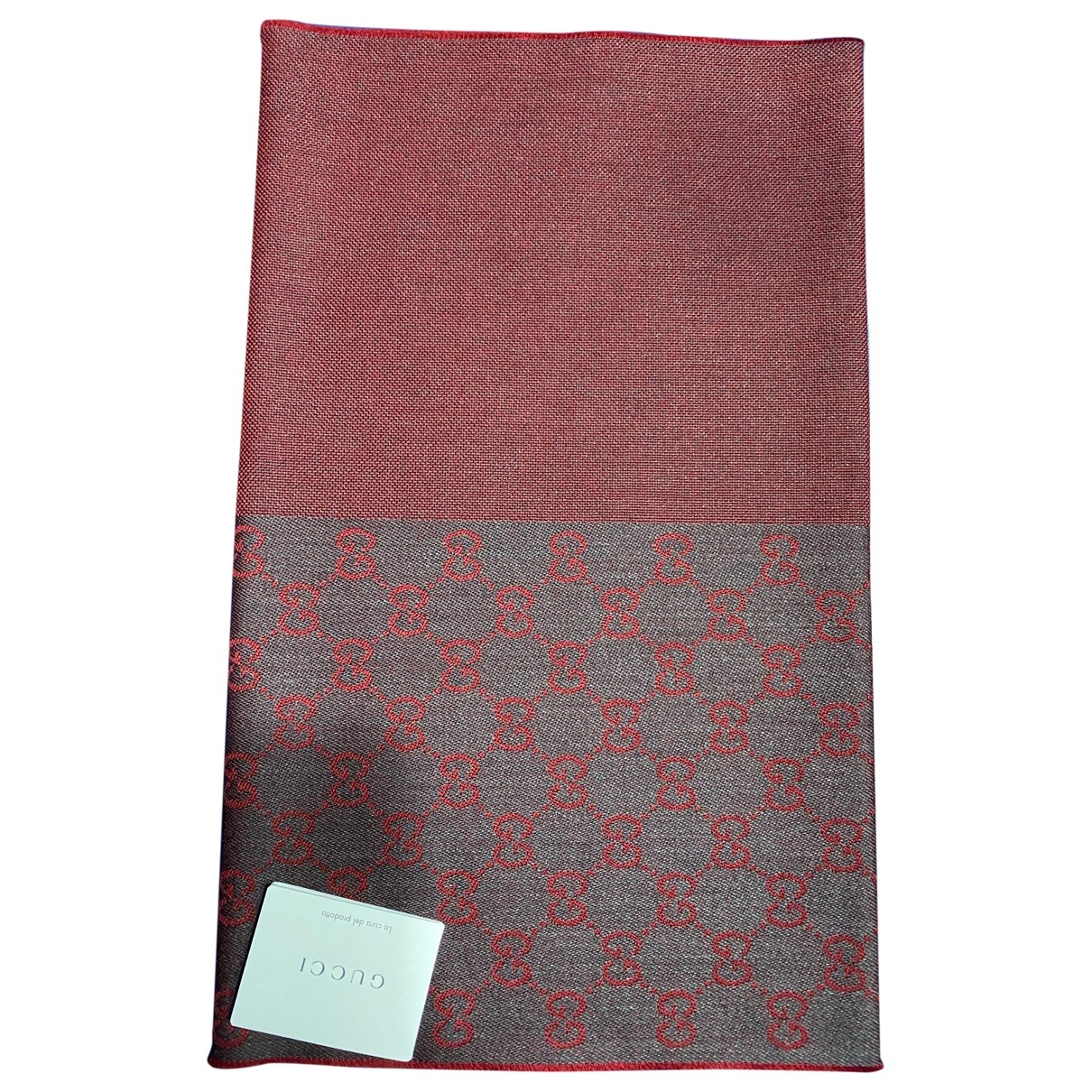 Gucci - Cheches.Echarpes   pour homme en laine - bordeaux