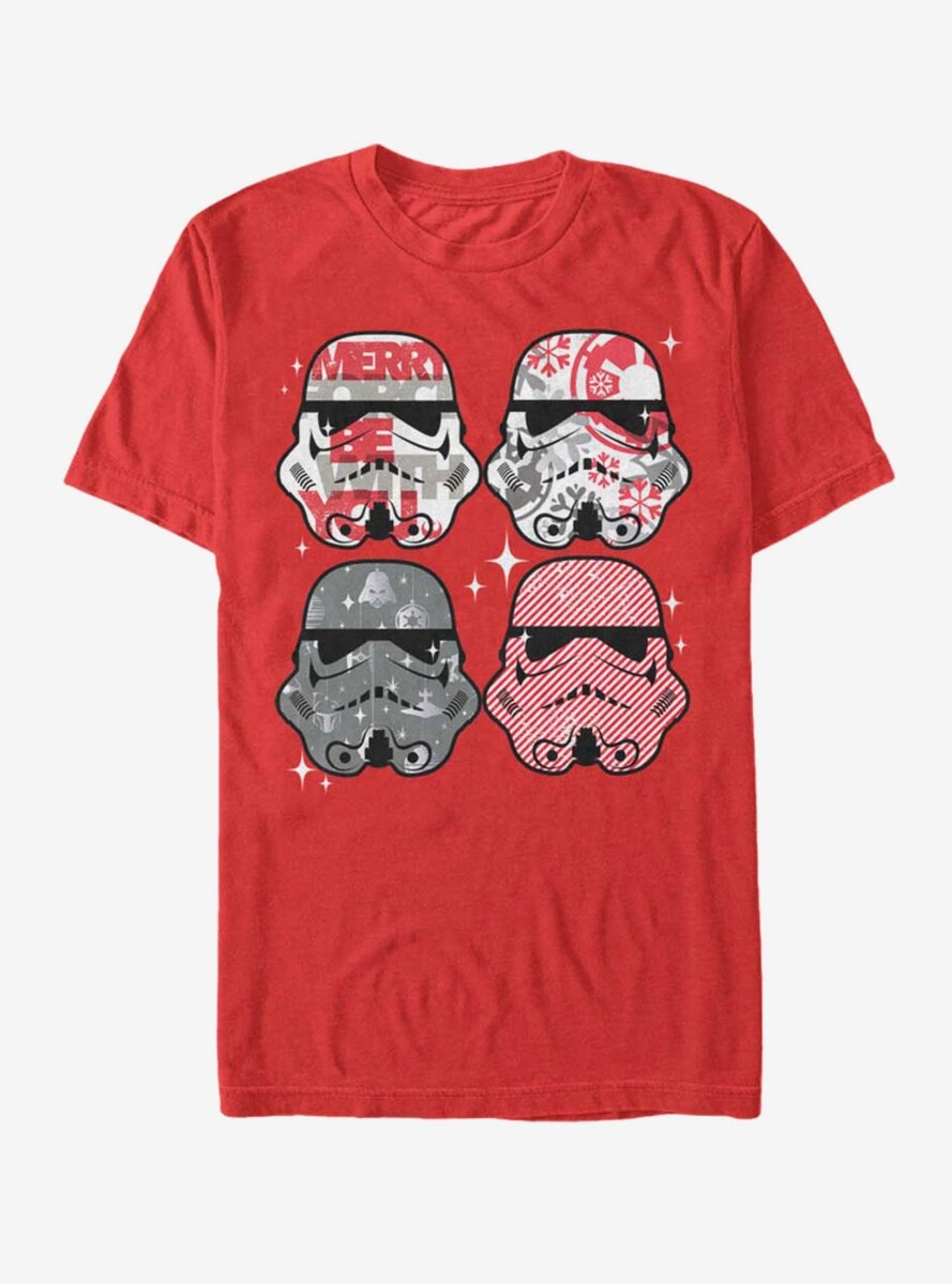 Star Wars Christmas Stormtrooper Helmets T-Shirt