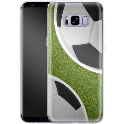Samsung Galaxy S8 Plus Silikon Handyhuelle - Two Footballs von caseable Designs